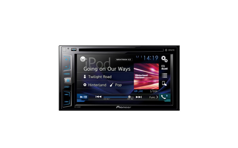 pioneer avh x390bs double din system